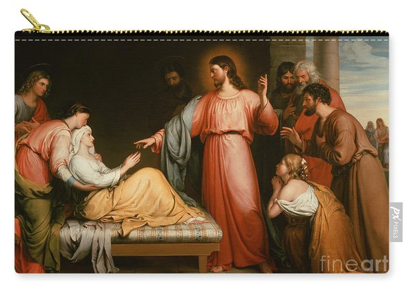 Christ Healing The Mother Of Simon Peter Carry-all Pouch