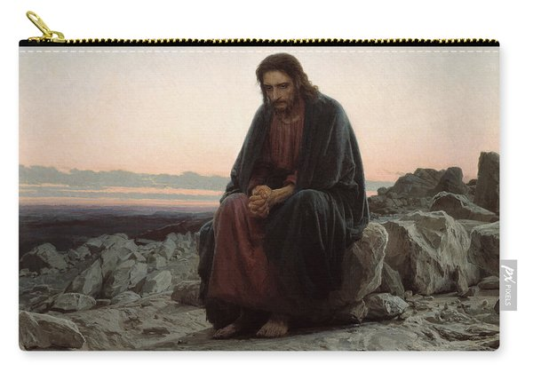 Christ In The Desert Carry-all Pouch