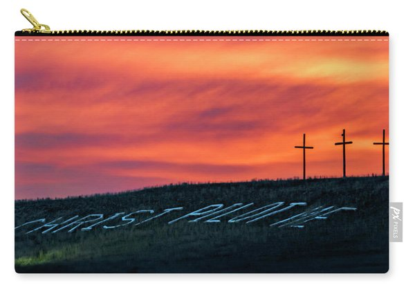 Carry-all Pouch featuring the photograph Christ Pilot Me Hill by Rob Graham