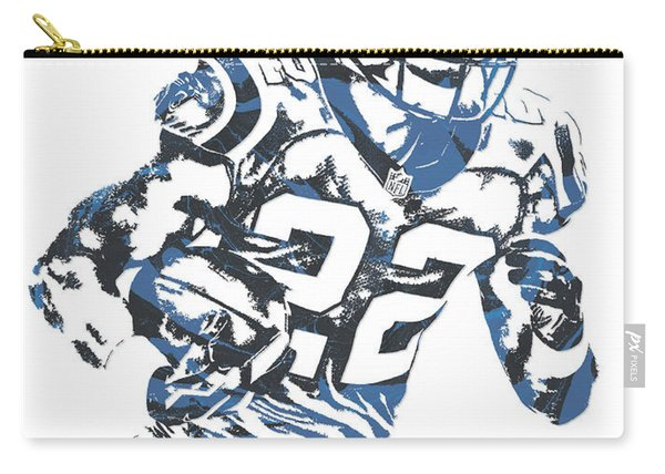 Christian Mccaffrey Carolina Panthers Pixel Art 3 Carry-all Pouch