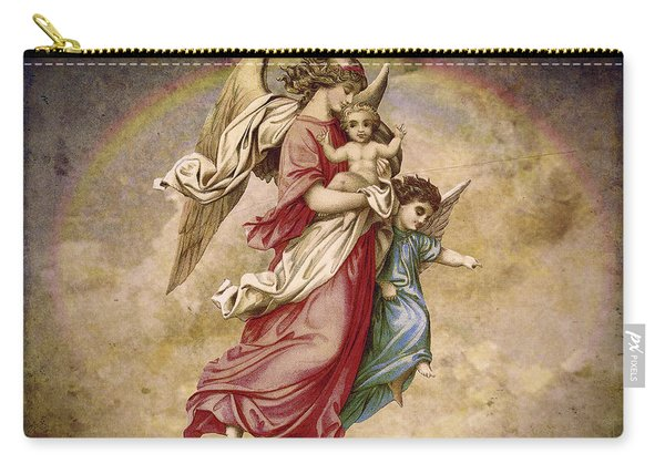 Christmas Angels And Baby Carry-all Pouch