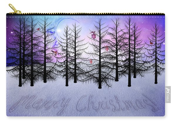 Christmas Bare Trees Carry-all Pouch