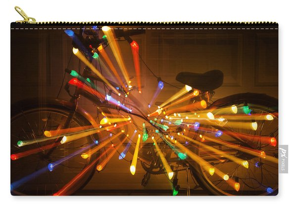 Christmas Bike Abstract Carry-all Pouch