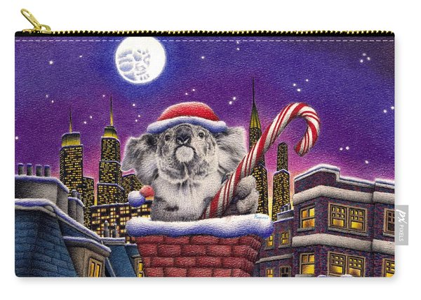 Christmas Koala In Chimney Carry-all Pouch