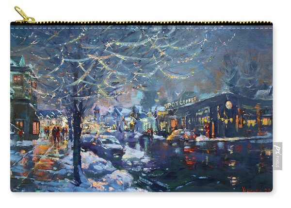 Christmas Lights In Elmwood Ave  Carry-all Pouch