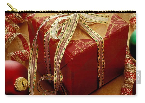 Christmas Present And Ornaments Carry-all Pouch