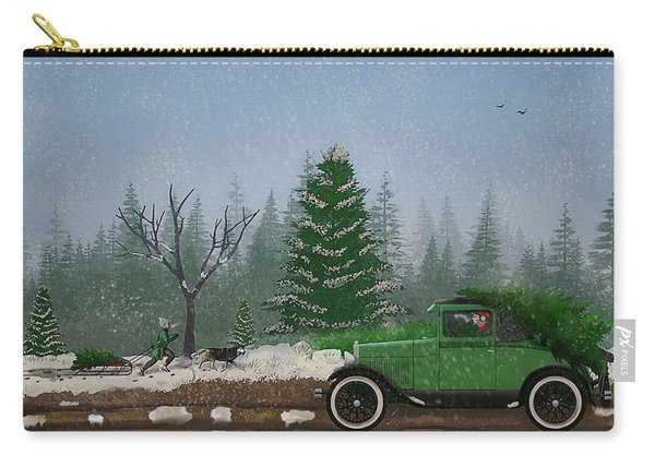 Christmas Tree Hunters Carry-all Pouch