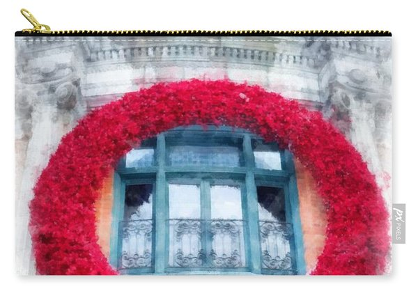 Christmas Wreath Old Quebec City Carry-all Pouch