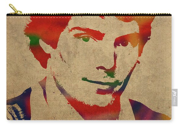 Christopher Reeve Watercolor Portrait Carry-all Pouch