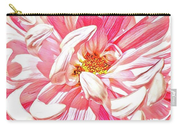 Chrysanthemum In Pink Carry-all Pouch