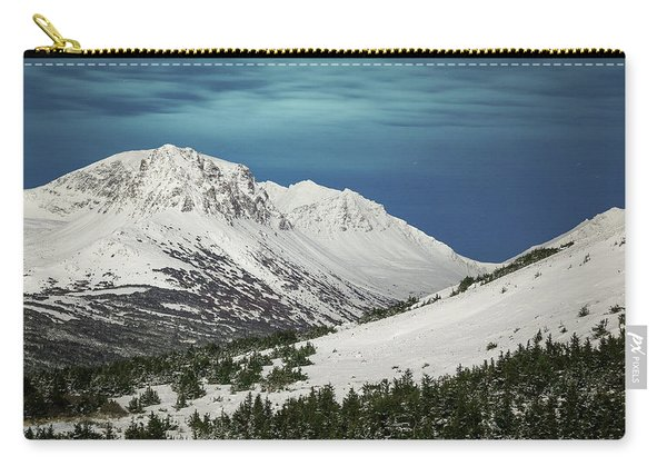 Carry-all Pouch featuring the photograph Chugach Night by Tim Newton