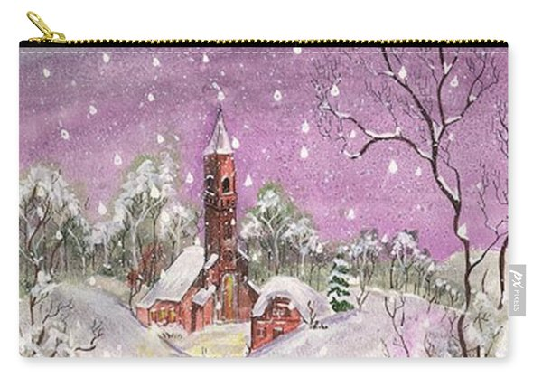 Church In The Snow Carry-all Pouch