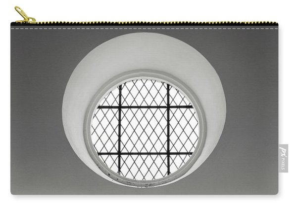 Church Window In Black And White Carry-all Pouch