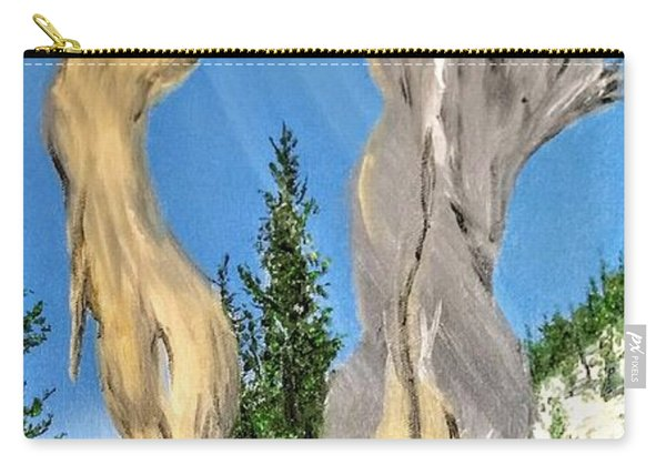 Carry-all Pouch featuring the painting Church Window by Kevin Daly