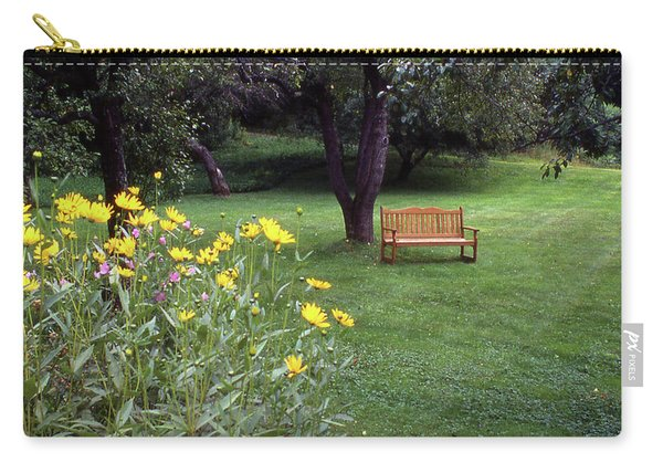 Churchyard Bench - Woodstock, Vermont Carry-all Pouch