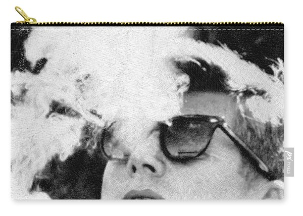 Cigar Smoker Cigar Lover Jfk Gifts Black And White Photo Carry-all Pouch