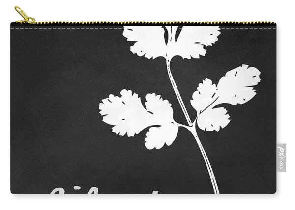 Cilantro Black And White- Art By Linda Woods Carry-all Pouch