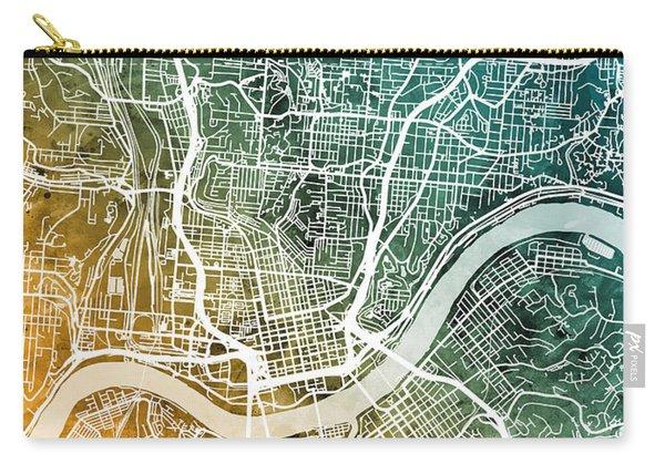 Cincinnati Ohio City Map Carry-all Pouch
