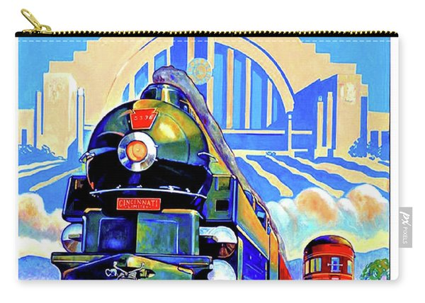 Cincinnati Railway, Trains, Travel Poster Carry-all Pouch