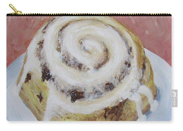 Carry-all Pouch featuring the painting Cinnamon Roll by Nancy Nale