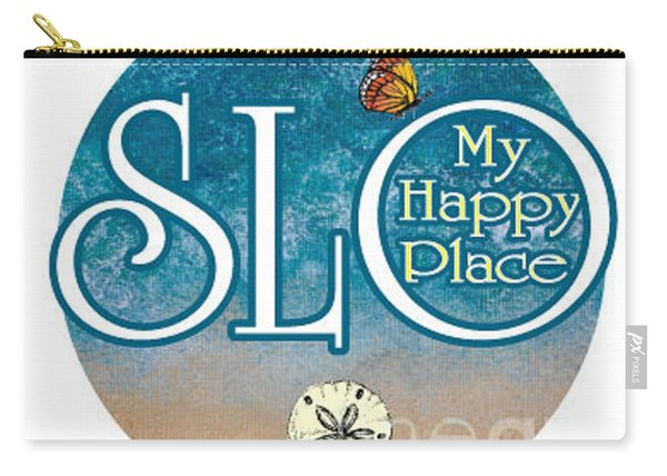 Circle Slo My Happy Place- Seascape Colors Carry-all Pouch