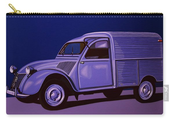 Citroen 2cv Azu 1957 Painting Carry-all Pouch