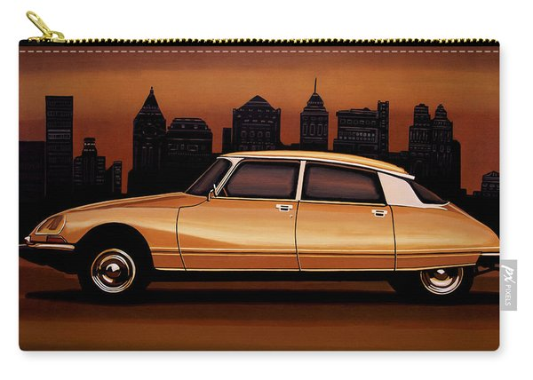 Citroen Ds 1955 Painting Carry-all Pouch