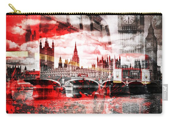 City-art London Red Bus Composing Carry-all Pouch