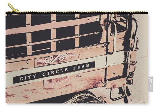 City Circle Street Artwork Carry-all Pouch