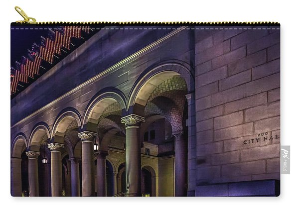 City Hall At Night Carry-all Pouch