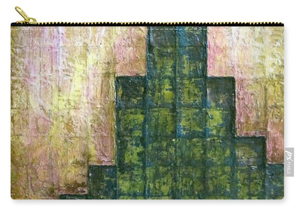 City In Green Carry-all Pouch