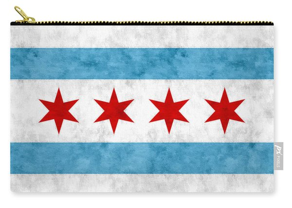 City Of Chicago Flag Carry-all Pouch