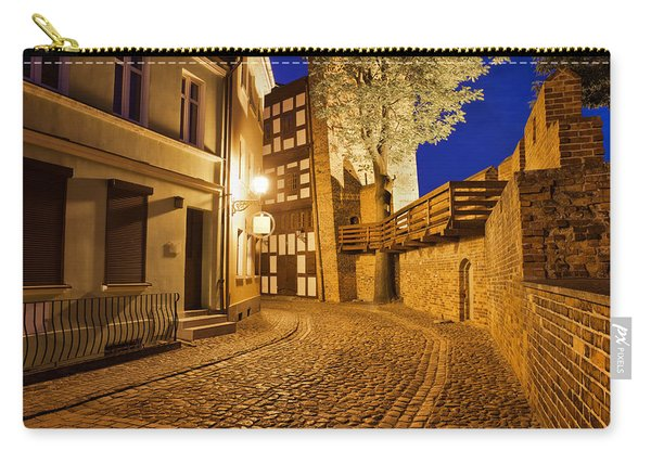 City Of Torun At Night Carry-all Pouch