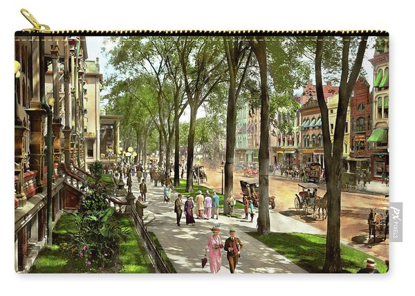 City - Saratoga Ny -  I Would Love To Be On Broadway 1915 Carry-all Pouch