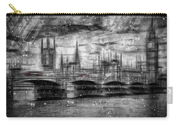 City Shapes London Houses Of Parliament Carry-all Pouch