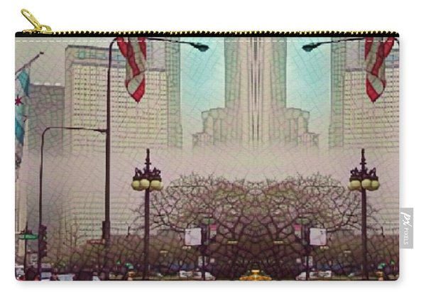 Cityscape With A Bit Of Fog Carry-all Pouch