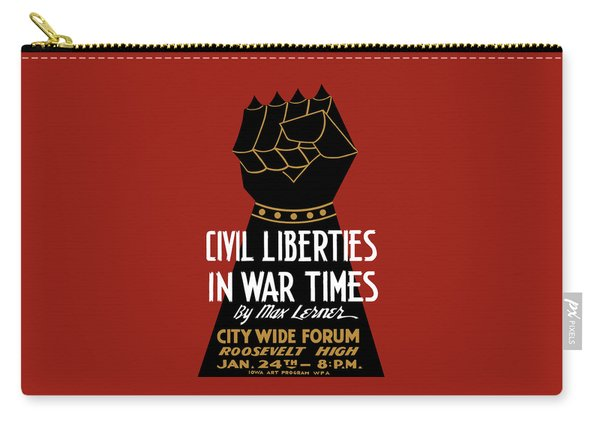 Civil Liberties In War Times - Wpa Carry-all Pouch