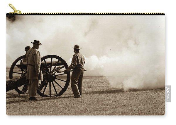 Civil War Era Cannon Firing  Carry-all Pouch