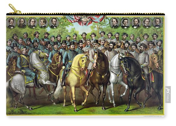 Civil War Generals And Statesman With Names Carry-all Pouch