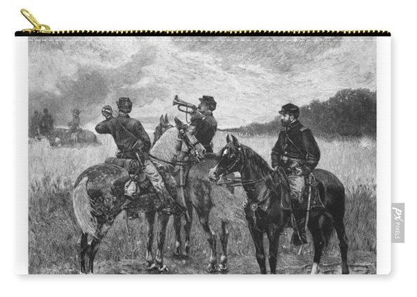 Civil War Soldiers On Horseback Carry-all Pouch