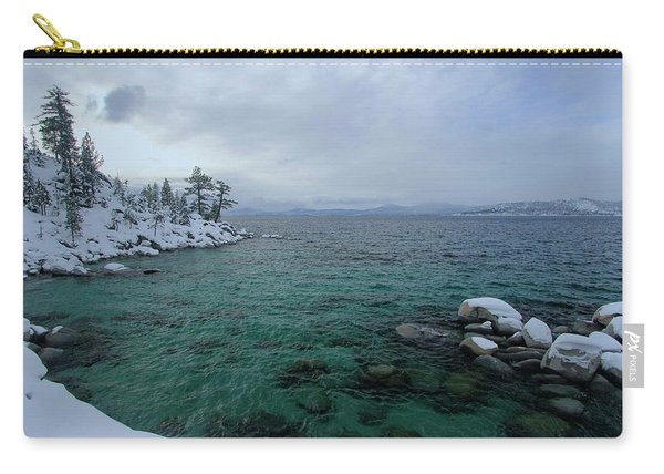 Carry-all Pouch featuring the photograph Clarity In A Winter Storm Sundown by Sean Sarsfield