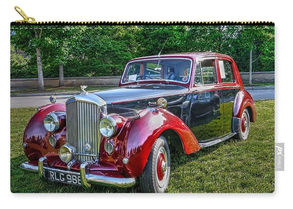 Classic Bentley In Red Carry-all Pouch