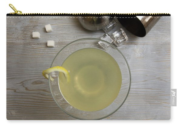 Classic Lemon Drop Martini Cocktail With Shaker Carry-all Pouch