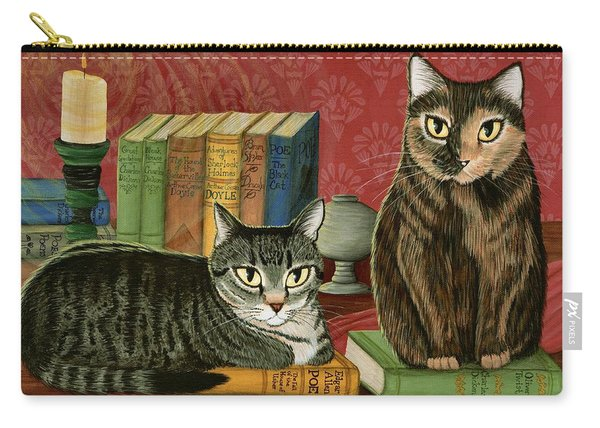 Classic Literary Cats Carry-all Pouch