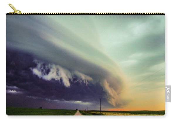Carry-all Pouch featuring the photograph Classic Nebraska Shelf Cloud 024 by NebraskaSC