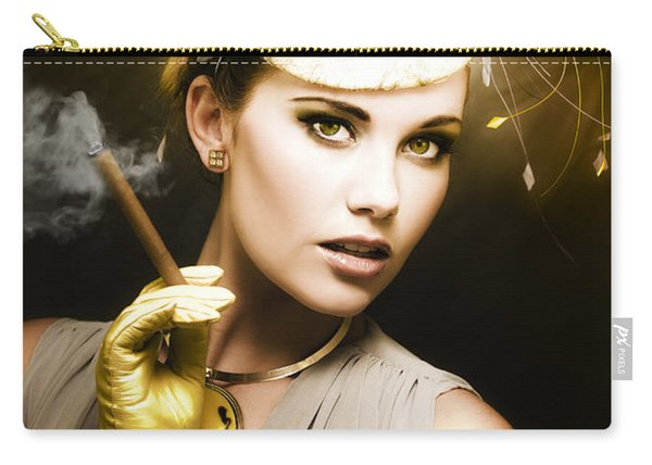 Classic Portrait Of Vintage Cinema Carry-all Pouch