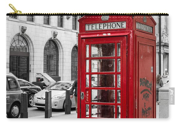 Red Telephone Box In London England Carry-all Pouch