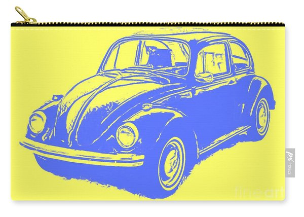 Classic Vw Beetle Tee Blue Ink Carry-all Pouch