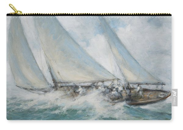 Classic Yacht  Twixt Wind And Water Carry-all Pouch