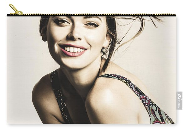 Classy Cool Hairstyle Pin Up Carry-all Pouch